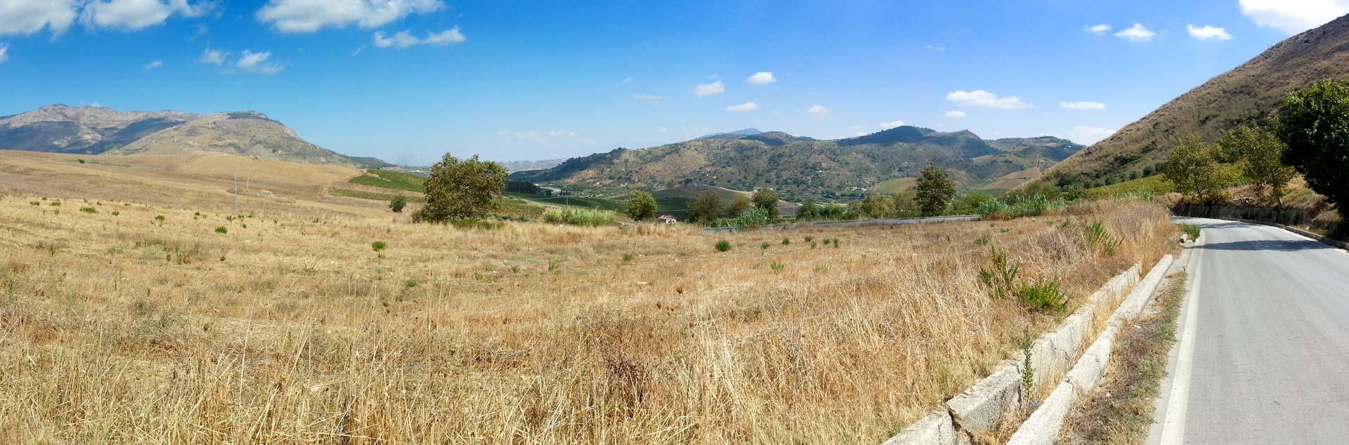 De omgeving bij Segesta in de provincie van Trapani (september 2014)