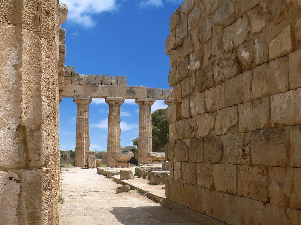 Een van de tempels van Selinunte