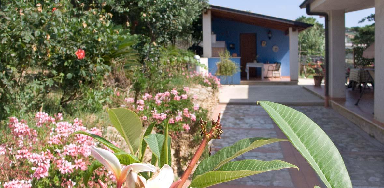 In de tuin van Villa Ponzini