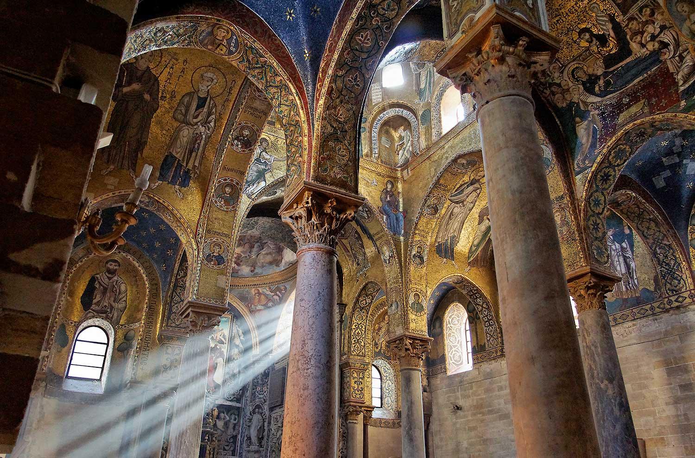Pracht en praal in de Martorana kerk