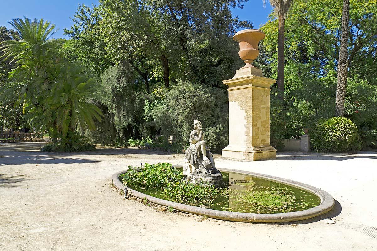 In de botanische tuin van Palermo