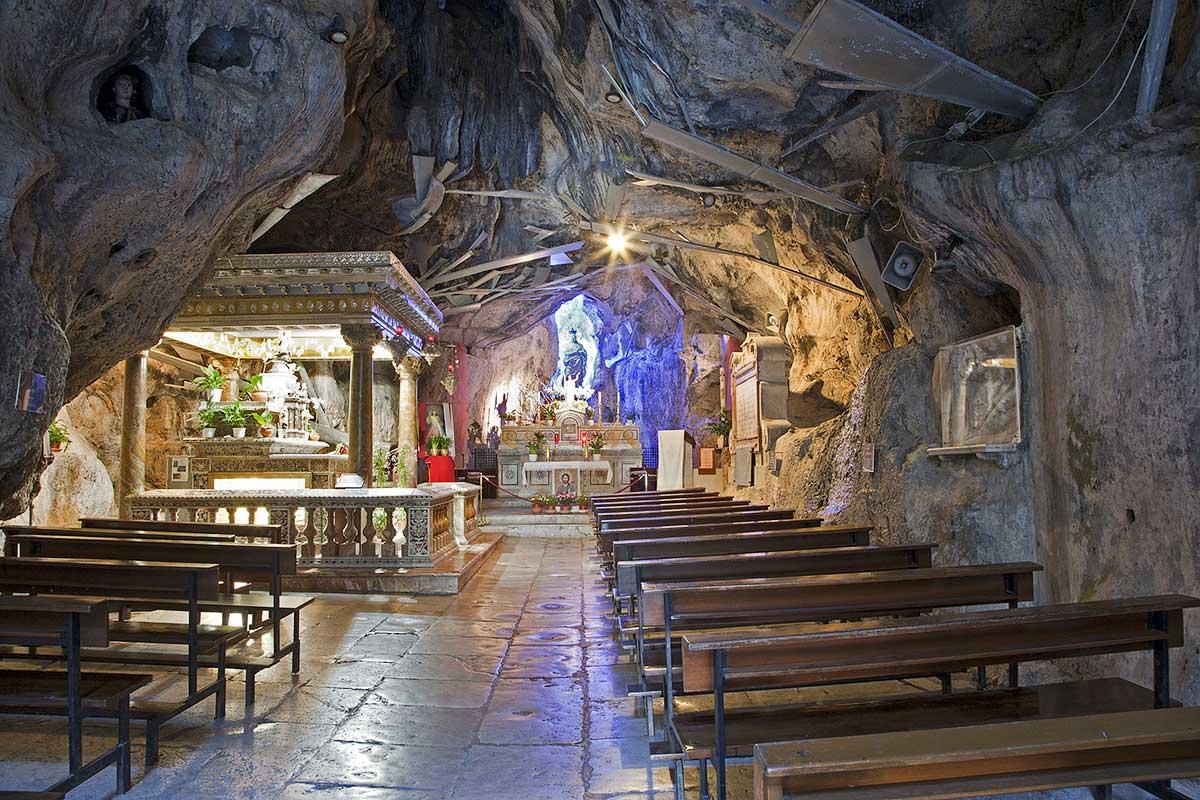 Het heiligdom gewijd aan Santa Rosalia, de beschermheilige van Palermo