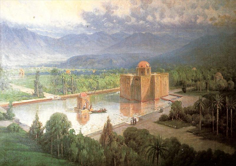 Het Castello della Cuba zoals het er in de 12e eeuw moet hebben uitgezien