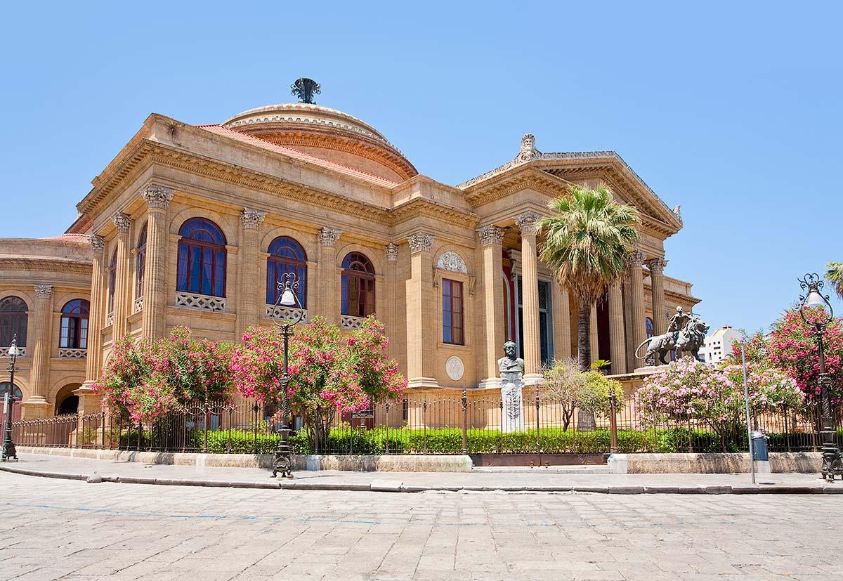 Het Teatro Massimo in Palermo
