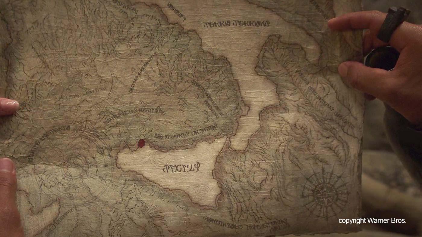 Een oude kaart van Sicilië