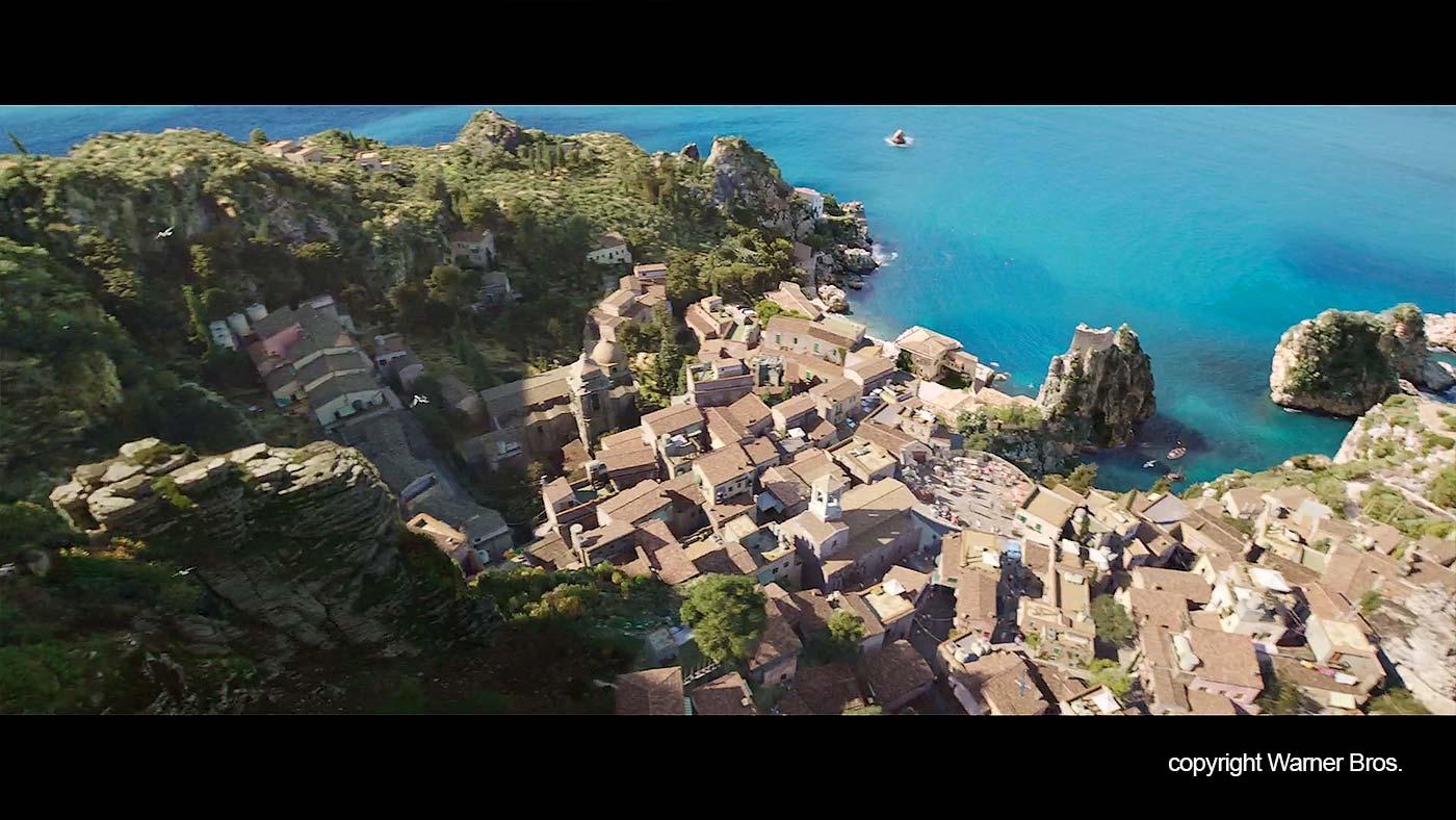 Het Siciliaanse kustplaatsje in Aquaman