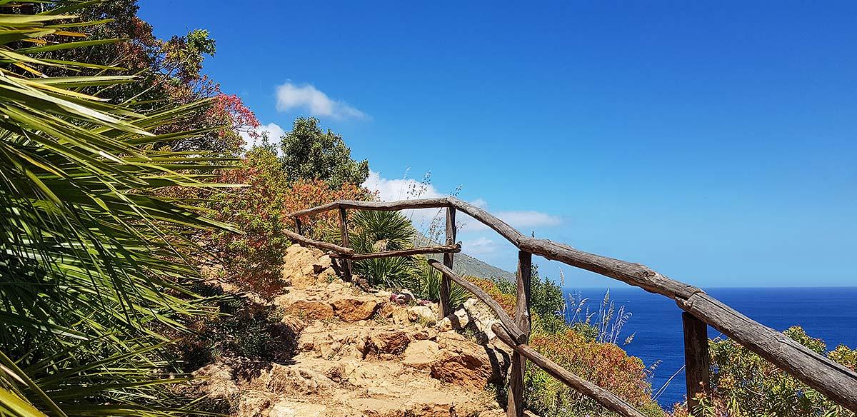 Een klimmetje vlakbij Punta Leone