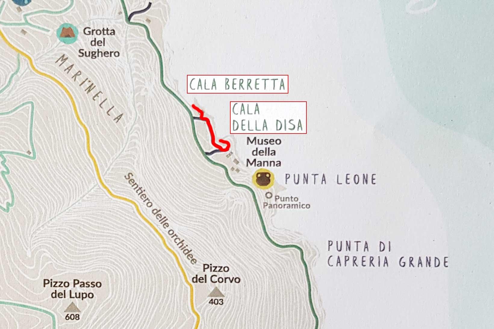 Van Cala della Disa naar Cala Berretta