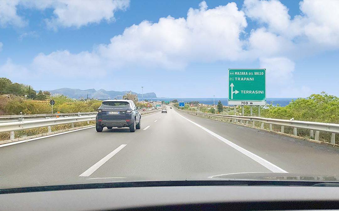 Met de auto naar Sicilië