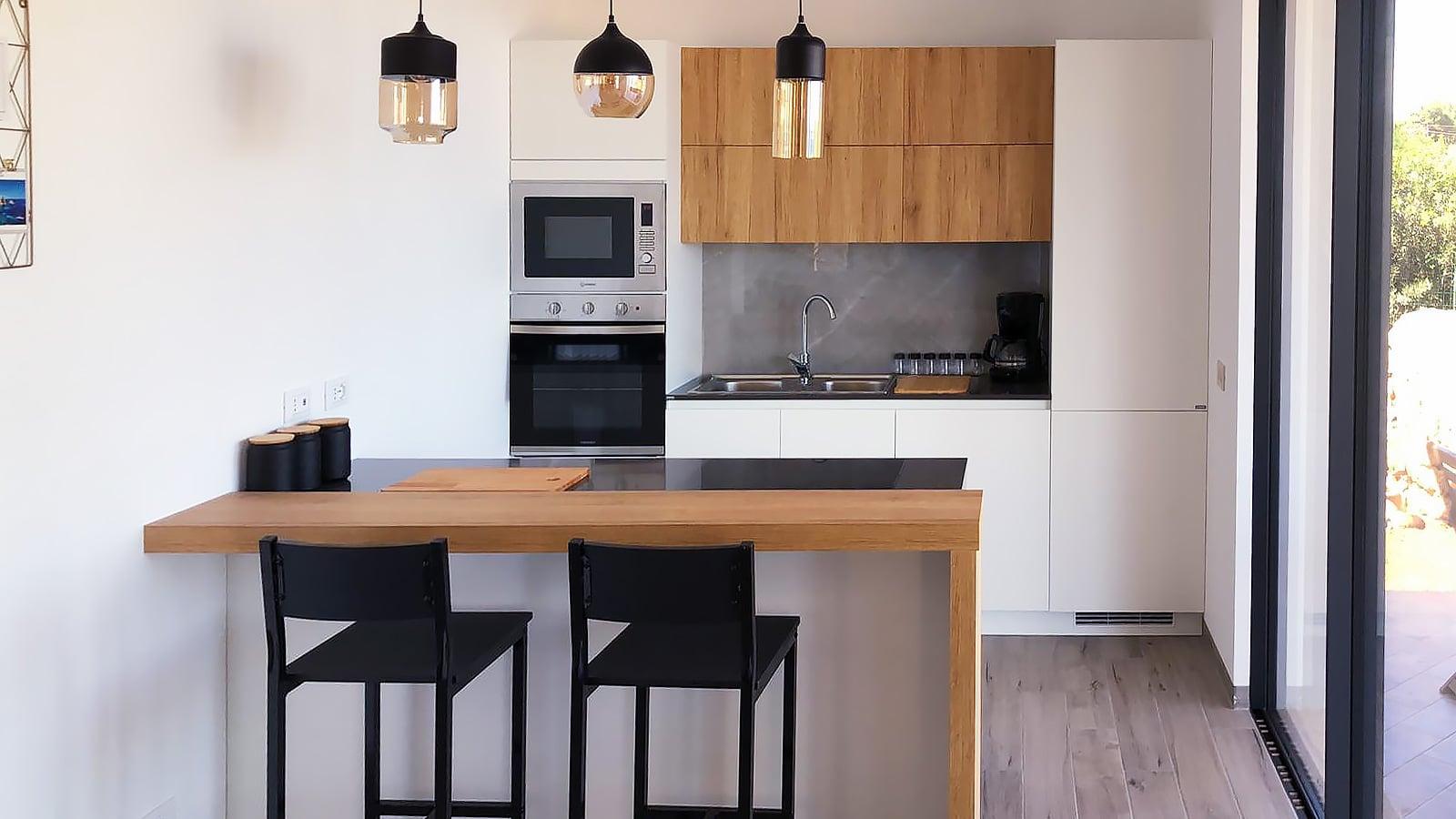 De nieuwe keuken van Villa Donnola