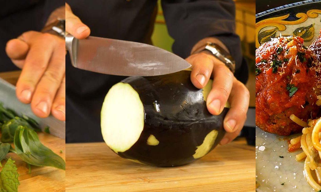 Recept van gevulde, Siciliaanse aubergineballetjes